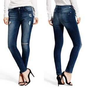 DL1961 Florence Mid Rise Skinny Jeans in Hunter